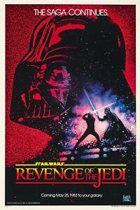 "STAR WARS REVENGE OF THE JEDI 11""x17"" MOVIE POSTER PRINT"