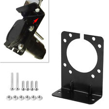 Mounting Bracket Holder for 7 Pin Caravan Towing Trailer Connector Plug Socket