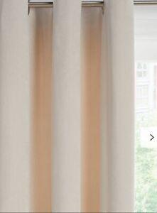 John Lewis Lustre Velvet Pair Lined Eyelet Curtains, Champagne 167x 182cm