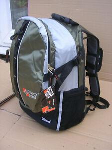 Rucksack Shoulder Day Pack Travel Hiking School Bag Sports Work Backpack Clear