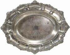 Serving Bowl Viners SilverPlate Repoussé Flat Chassed 70's Vintage 36 x 28