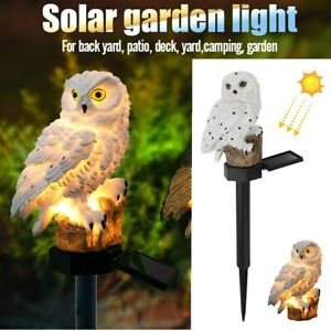 Stand Owl Solar LED Light Garden Landscape Yard Outdoor Decor Lamp Waterproof US
