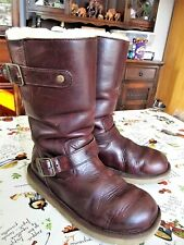 UGG australia,GORGEOUS,SOFT DARK TAN[conker]LEATHER MID CALF BOOTS - SIZE UK 4.5