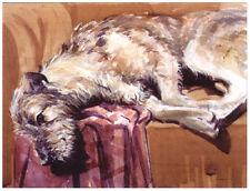 IRISH WOLFHOUND DOG FINE ART LIMITED EDITION PRINT  IWH - by Malcolm Coward