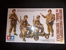 Tamiya militry miniaturas Paracaidistas Británicos Con Motocicleta Pequeña