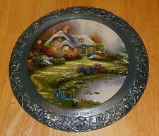 Collector Plate Thomas Kinkade 25th Anniv Master Pewter Everett's Cottage Coa