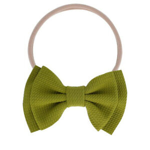 Kid Girl Baby Headband Toddler Nylon Big Bow Hair Band Accessories Headwear Hot