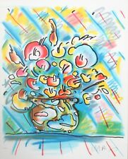 Peter Max - Untitled Flower  Original lithograph on paper MINT PERFECT CONDITION