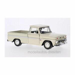 Motormax 73355 Chevrolet C10 Fleetside Pick Up Light Beige Yr 1966 1:24 New !°