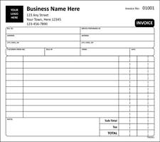 Invoice For Services / 2 or 3 Part Carbonless / Tmg062 / Customized