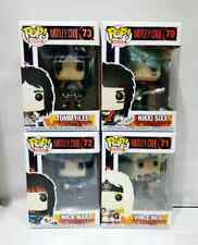 Funko Pop! Rocks : Motley Crue Set ( 4 Figurines) # Vaulted . Nice . !