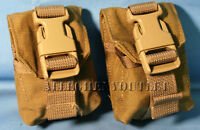 (2) Military USMC Molle II Coyote Frag Grenade Pouch Eagle Industries MARSOC NEW
