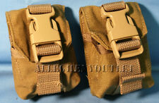 Set Of 2 Eagle Ind Molle Ii Coyote Frag Grenade Pouch Mc-Fgc-1-Ms-Coy Usmc Exc