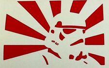 """RISING SUN STAR WARS JDM"" Divertente Adesivo CLIO, Pug, SAXO, posizione, BMW, VW, dub, JDM"