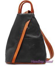 Handbag Bliss Genuine Italian Super Soft Leather Rucksack Backpack Shoulder Bag