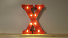 LED ALPHABET METALL BUCHSTABE - X - ROT 31x14-30x5cm=12 INCH MARQUEE LETTER