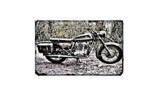 Ducati 350 Single Motorbike Sign Metal Retro Aged Aluminium Bike
