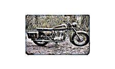 Ducati 350 Single Motorbike Sign Metal Retro Aged Aluminium Bike
