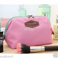 Women Travel Toiletry Make Up Cosmetic pouch bag Clutch Handbag Purses Case