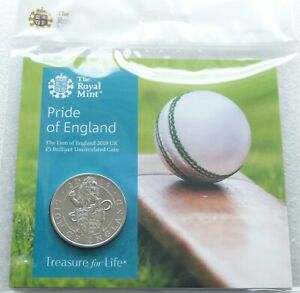 2019 Royal Mint Queens Beasts Pride of England £5 Five Pound Coin Pack Sealed