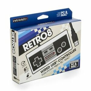 Retro-Bit NES Style USB Wired Game Controller for PC / Mac