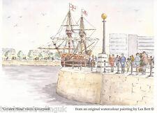 Postcard: Les Bott - The Golden Hind Visits Liverpool (Pilkington Family Trust)