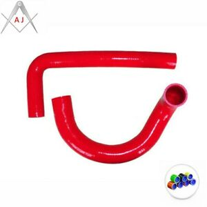 Red For 1962-1967 CHEVY II/NOVA V8 / l6 MT Silicone Radiator Hose Cooling Pipe