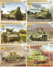 1:100 ZVEZDA Tank Panzer M3 Lee Sherman Stuart Mk IV Matilda II US British WWII