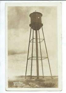 Bowbells ND North Dakota RPPC Postcard Water Tank Posted 1921