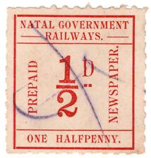 (I.B) Natal Government Railways : Prepaid Newspaper Parcel ½d