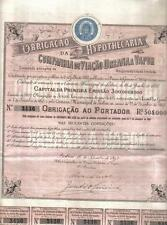 Portugal 1893 Company Steam Urban Roads Lisbon Rs 50$000 share Uncancelled coup