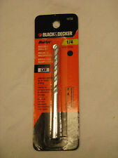 "Black & Decker 1/4"" Bullet  Premium Masonry Bit , 4-Inch X 1/4"" #16732"