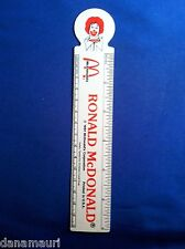 FREE SHIPPING   Vintage McDonalds 1981 Ronald McDonald Flexible Ruler