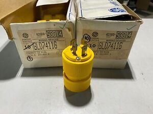 5x GE GLD7411G Dyna-Mate II Locking Plugs 10-20A 250/600V, NOS