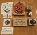 Lot of Halloween Rubber Stamps Jack o Lantern Pumpkin Halloween Fun Vintage
