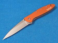 KERSHAW 1660ORX LEEK Orange Speed-Safe assisted opening linerlock knife USA NEW!