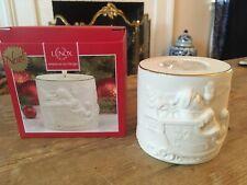Lenox Radiant Light Santa Votive Candle Holder Ivory Christmas Santa Reindeer