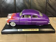 1:24 1949 MERCURY COUPE CUSTOM HOT ROD PURPLE WITH FLAMES BY MOTORMAX