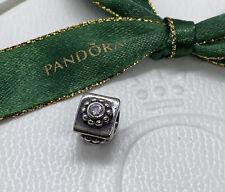 Pandora Authentic Clear Blossom Charm White Stone 790170CZ Rare Genuine Ale
