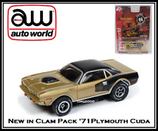 Auto World ~ '71 Plymouth Cuda ~ New in Clam Pack ~ Also Fits AW, AFX, JL