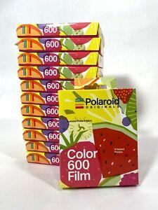 12 pk Polaroid Originals 4929 Color 600 Instant Film - 8 Prints *Expired Film*
