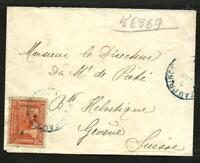 HAITI 1914 COVER TO SWITZERLAND (GENEVE) REGISTERED NICE