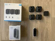 Nest Hello Smart Wi-Fi Video Doorbell - Plus Blink 4 Camera System