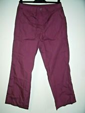 Damart Knitted Waistband Trousers Plum Size UK 16 rrp £25 NH191 EE 03