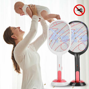 USB Electric Bug Pest Insect Fly Wasp Handheld Racket Zapper Mosquito Swatter UK