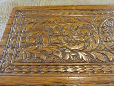 Vintage Ornate Sewing Trinket Wooden Box w Latch > Antique Boxes Sew 9706