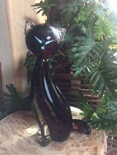 Italian Luciano Gaspari Sommerso Murano Siamese Cat art glass sculpture signed