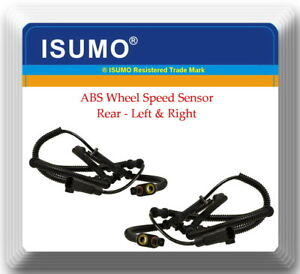 2 ABS Wheel Speed Sensor Rear L&R ALS2008 Fits:Town & Country Grand Caravan