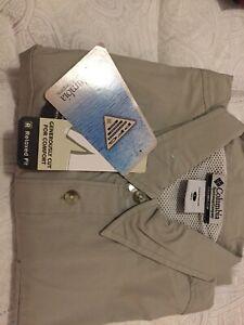 Columbia Fishing shirt khaki L NWT