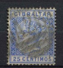 Gibraltar 1889-1896 SG#26, 25c Ultramarine QV Used #A73908